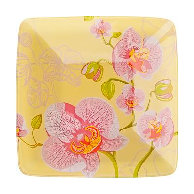 830-176 VETTA Орхидея Салатник квадратный стекло, 20,3см, S312008N H211