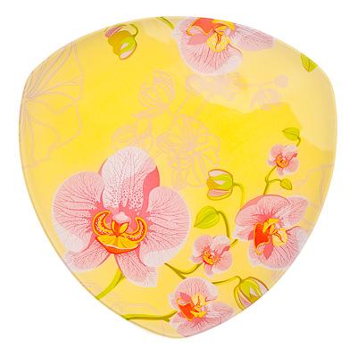 830-180 VETTA Орхидея Блюдо треугольное стекло, 25,4см, S330010 H211