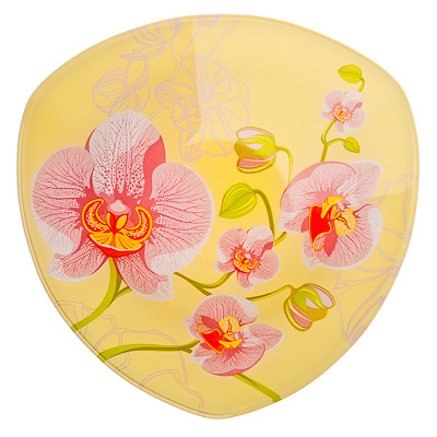 830-182 VETTA Орхидея Салатник треугольный стекло, 20см, S332008 H211