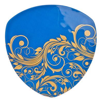 830-190 VETTA Золотая вязь Блюдо треугольное стекло, 25,4см, S330010 H212