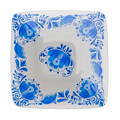 830-207 VETTA Гжель Салатник квадратный стекло, 15,2см, S312006N H210