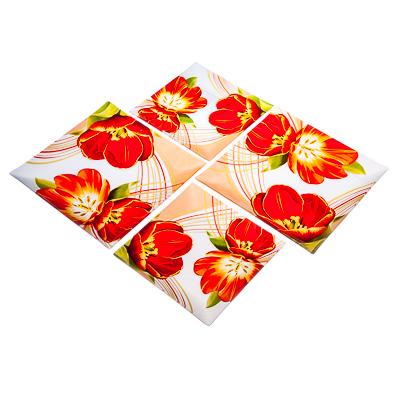 830-234 VETTA Моника Набор блюд квадратных 4пр, 2шт 25,4см+2шт 20см, стекло, S311008/4 L025