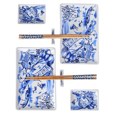 """839-010 Набор для суши 8 пр., керамика, """"Восточная река"""""""