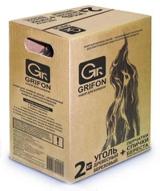 101-011 GRIFON Набор для барбекю (уголь 2кг, перчатки, спички, пакет 60л), 600-040
