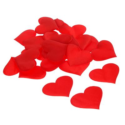 597-001 Сердечки декоративные, полиэстер, 25 шт, арт.0101