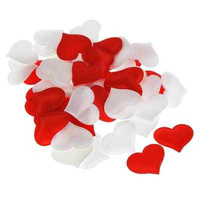 597-003 Сердечки декоративные, полиэстер, 50 шт, арт.0103