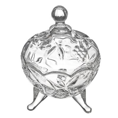 877-326 Хрустальная мечта Конфетница на ножках с куполом, 13х9,5см, стекло