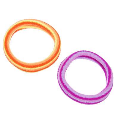 322-067 Набор резинок для волос 4шт., полиэстер, 5,5 см, разноцветные