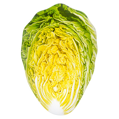 "877-355 VETTA Блюдо стекло, 25,4cм, ""Свежий салат"", М253"
