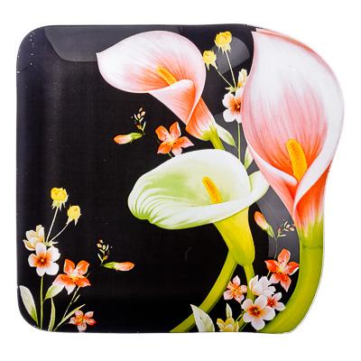"877-370 VETTA Блюдо стекло, 25,4cм, ""Изящный цветок"", M248"