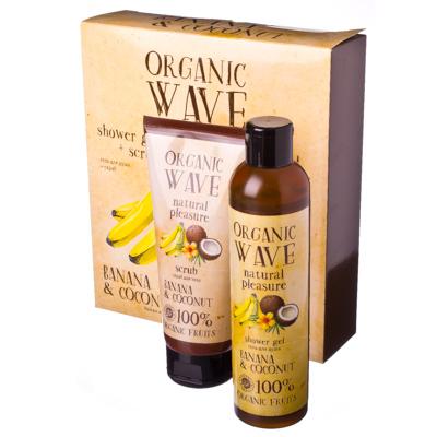 """313-195 Набор косметический для женщин """"Organic Wave"""" банан и кокос"""