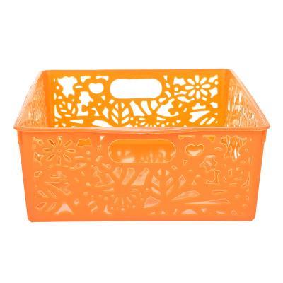 406-051 Корзина для хранения мелочей, пластик, 27х19,5х8 см, 3 цвета