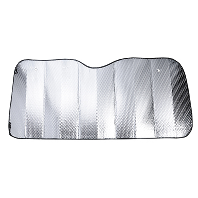 718-020 NEW GALAXY Шторка солнцезащитная на лобовое стекло, 145x70см, серебристая, 110035S