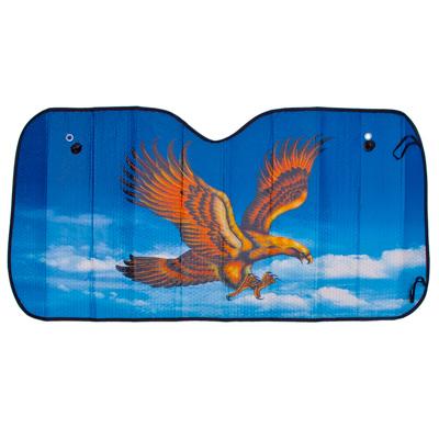 "718-025 NEW GALAXY Шторка солнцезащитная на лобовое стекло, 130x60см, ""Орел"", 110051"