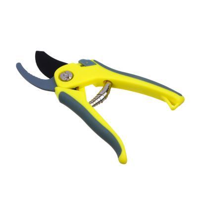 186-004 Секатор садовый, сталь, пластик, двухкомпонентные ручки, 20,5 см, INBLOOM