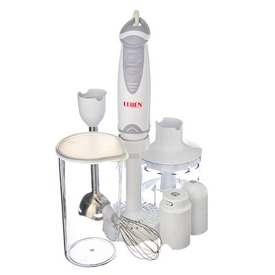 Блендер электрический 400Вт мерный стакан, чоппер, венчик, насадка для пюре
