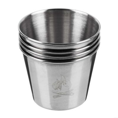 123-008 Набор стаканов ЧИНГИСХАН 4шт, металл, 50мл, в чехле