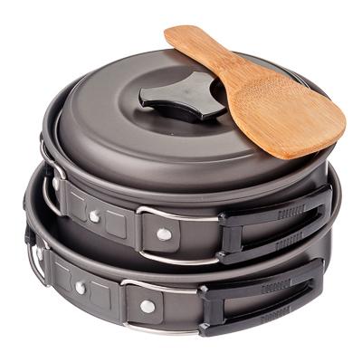 123-010 ЧИНГИСХАН Набор посуды 7 пр., алюминий, пластик, для 2-х персон, в чехле, RH3084