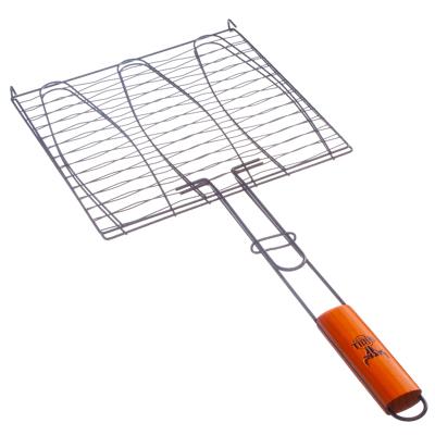 104-020 GRILLBOOM Решетка-гриль для рыбы, углеродистая сталь, 61,5х28х28см, антипригарная