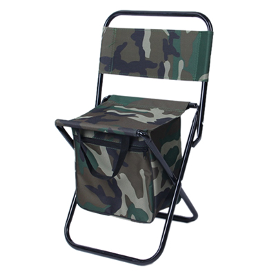 121-007 ЧИНГИСХАН Стул складной с изотермической сумкой, сталь, oxford 600D, цвет камуфляж, СНО-114-5(6,7)