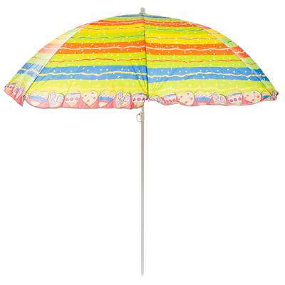 121-015 Зонт пляжный, 170Т полиэстер, d=155см, h=180см, 19/22мм стойка