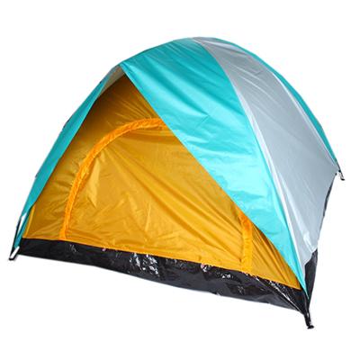 122-016 ЧИНГИСХАН Палатка 3-местная, 2сл., 200х200х135см, нейлон 170T, дно PE водонепроницаемое