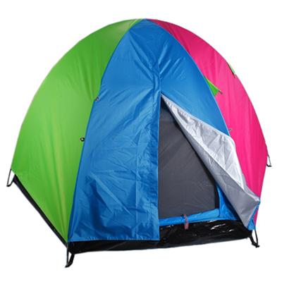 122-019 ЧИНГИСХАН Палатка 4-местная, 2сл., 230х230х135см, нейлон 170T, дно оксфорд 210D