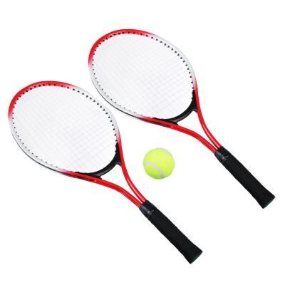 132-003 Набор для большого тенниса: 2 ракетки, мяч, в чехле, металл, пластик, SILAPRO