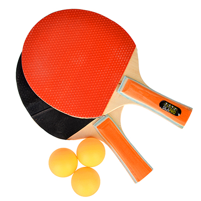132-013 SILAPRO Набор для тенниса (ракетка 2шт, теннисный мяч 3шт), дерево, 3028