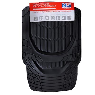 768-353 NEW GALAXY Набор ковров с высоким бортом 4шт, термопласт, универсальные, черные Track