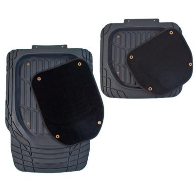 768-355 NEW GALAXY Набор ковров с высоким бортом термопласт+ковролин на клипсах 4шт, универс, черные Vision