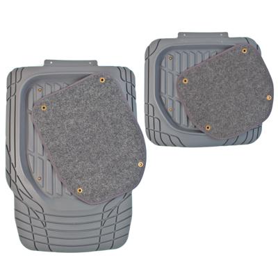 768-356 NEW GALAXY Набор ковров с высоким бортом термопласт+ковролин на клипсах 4шт, универс, серые Vision