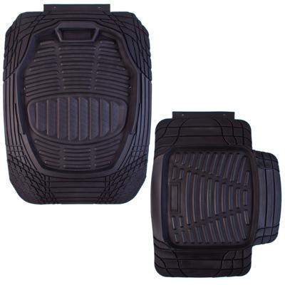 768-371 NEW GALAXY Набор ковров с бортом ПВХ 4шт, универс, черные, передние 69x52см, задние 61x49см Eclipse