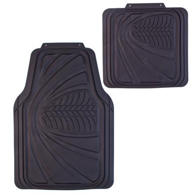 768-376 NEW GALAXY Набор ковров с бортом ПВХ 4шт, универс, черные, передние 68x48см, задние 45х42cм Claw