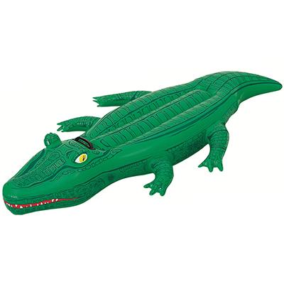 """107-008 BESTWAY Игрушка для катания 167х89см """"Крокодил"""", с ручкой ПВХ, от 3-х лет, 41010"""
