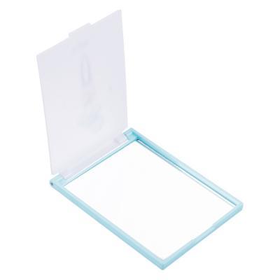 301-146 Карманное зеркало прямоугольное, пластик, 6,2х9,2 см, 4 дизайна GC