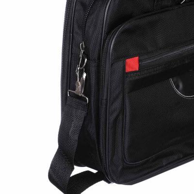 328-177 Сумка для ноутбука 5 отделений, полиэстер, 38х30х13см, черный, #015-1