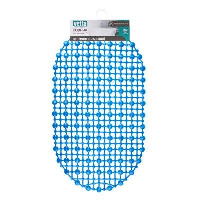 """403-045 Коврик для ванны противоскользящий, ПВХ, 67x36см, эконом, 4 цвета, VETTA """"Симпл"""""""
