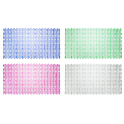 """403-047 Коврик для ванны противоскользящий, ПВХ, 66x36см, 4 цвета, VETTA """"Цветочная поляна"""""""