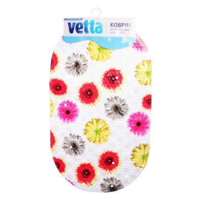 """403-049 Коврик для ванны противоскользящий, ПВХ, 69x39см, 4 дизайна, VETTA """"Лорена"""""""