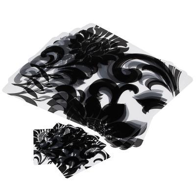 """890-265 Набор термосалфеток 8шт (4шт 42x28см + 4шт 9x9см), """"Барокко"""" черный принт, 4 дизайна"""