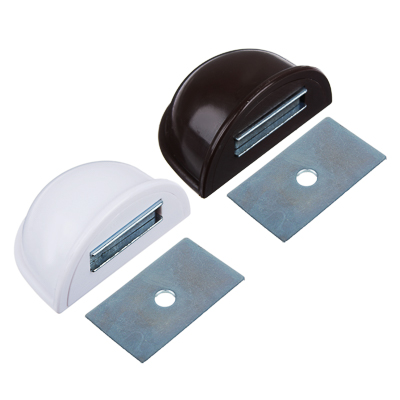 416-083 Стопор дверной, магнитный пластик, металл, 2,5х5см, коричневый