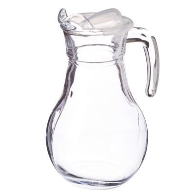 """878-116 PASABAHCE Кувшин 1000мл, с прозр. пластиковой крышкой, """"Bistro"""", стекло, 43944B"""