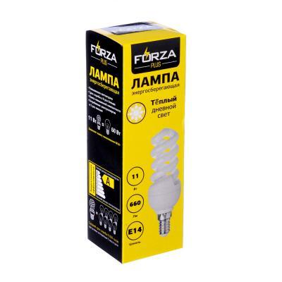 925-011 FORZA Лампа энергосберегающая E14 11W 2700K полн.спираль