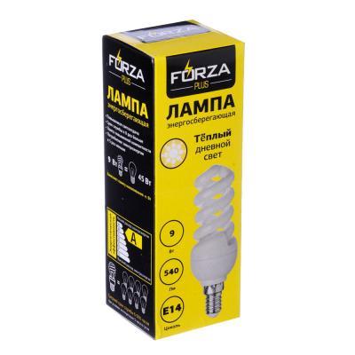 925-013 FORZA Лампа энергосберегающая E14 9W 2700K полн.спираль
