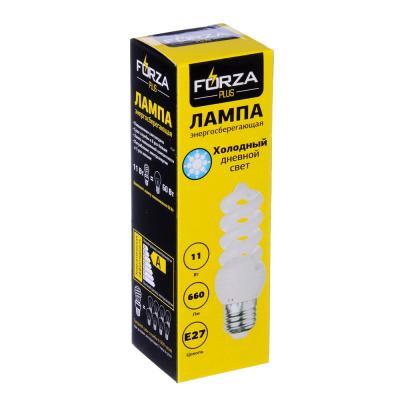 925-017 FORZA Лампа энергосберегающая E27 11W 4100K полн.спираль