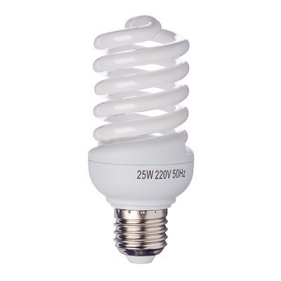 925-023 FORZA Лампа энергосберегающая E27 25W 4100K полн.спираль, трубка Т2