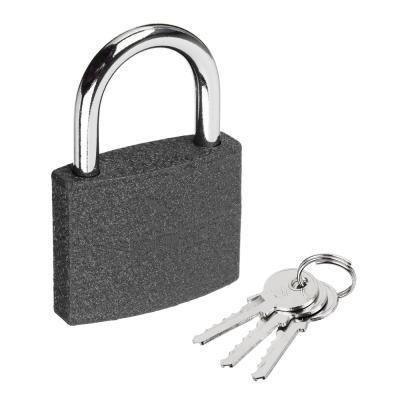 673-014 FALCO Замок навесной серый металл, 50мм