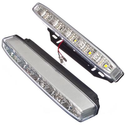 706-042 NEW GALAXY Дневные ходовые огни LED, белый свет, пласт корп, 5 ламп, 220х25мм, комп 2шт, Classic