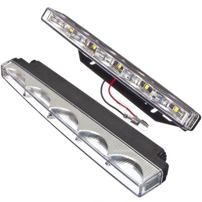 706-049 NEW GALAXY Дневные ходовые огни LED, белый свет, пласт корп, 5 ламп, 200х18мм, комп. 2шт, Classic
